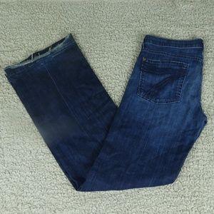 7FAMK Dark Rinse Dojo Jeans Size 32
